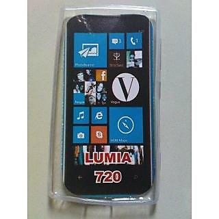 Nokia Lumia 720 Windows Mobile Soft Jelly Silicon Back Case Back Cover White
