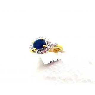 Bijou American Diamond Ring - Blue