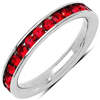 Red American Diamond Ring