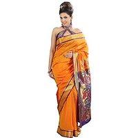 Exclusive Tangarine Paithni Art Silk Saree SB 1034 for Women By Shubham Fashions