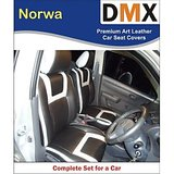 DMX Wagon R 2009 And Earlier Norwa Black With Red Leather Car Seat Covers