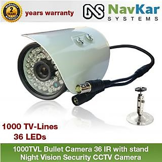 1000TVL Bullet Camera 36 IR with 2 Yrs. WRNTY Night Vision Security CCTV Camera