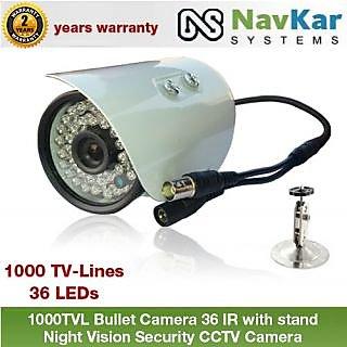 1000TVL Bullet Camera 36 IR with 2 Yrs. WRNTY Night Vision Security CCTV Camera