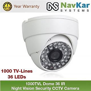 1000TVL Dome 36 IR 1 year warranty Night Vision Security CCTV Camera