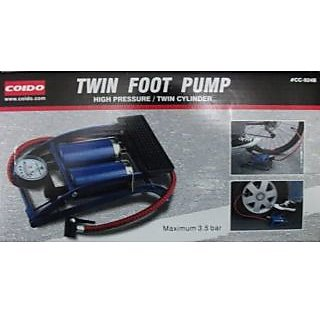 Original COIDO Air Foot Pump 8cm Double Cylinder Tire/Tyre Inflator for Bike/Car available at ShopClues for Rs.1040