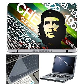 FineArts Laptop Skin Che Guevara Accomplish With Screen Guard and Key Protector - Size 15.6 inch