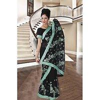 Women Designer Ethnic Bollywood Georgette GreenSaree SB 47 B By Shubham Fashions