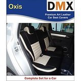 DMX Micra Oxis Beige With Black  Art Leather Car Seat Covers