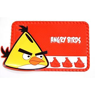Angry Birds Car Dashboard Non Slip Mat Silica Gel Pad for Mobiles, Keys, Coins