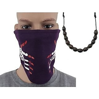 Jstarmart Half All Weather Face Mask Combo Beads Mala JSMFHFM0086