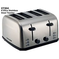 Black and Decker ET304 4 SLICE STAINLESS STEEL TOASTER