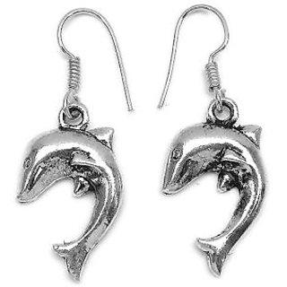 Bijou Oxidized Metal Dolphin Dangler