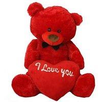 5 Feet Jumbo Teddy Red