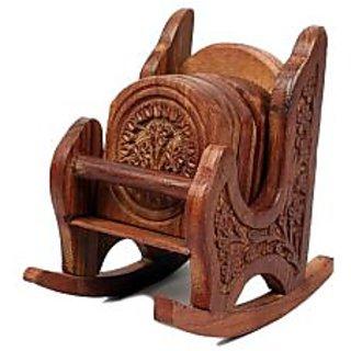 Onlineshoppee Rocking Chair Wooden Coaster(6 Pcs.)