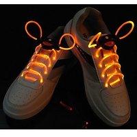 Fiber Optic LED Shoe Laces, Neon Yellow Led Strong Light Gadget, Disco Led Light