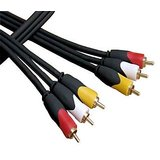 3rca To 3rca Pvc Video Av Cable Red/yellow/white Ends-4.5 Meters
