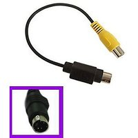 4 PIN S-VIDEO male To AV /TV RCA Female Cable Adapter
