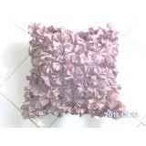 Ruffle Cushion Cover Light Brown