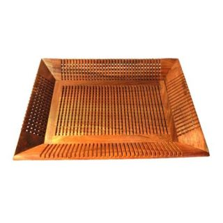 Onlineshoppee  Hand carved Wooden Square Serving Tray, decorative table ware, al