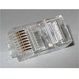 RJ45 CONNECTORS WITH GOLD PLATING- 1BOX  50 CONNECTORS