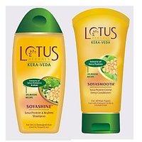 Lotus Herbals Soyashine Shampoo 200 ML +Lotus Herbals Soyasmooth Conditioner 150 ML