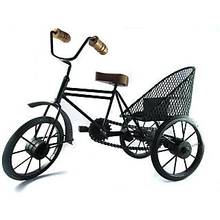 Onlineshoppee Fancy solid wrought iron miniature rikshaw