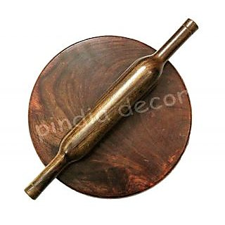 Onlineshoppee  HAND MADE WOODEN CHAKLA BELAN ROOLING PIN KITCHEN UTENSILS