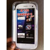 Micromax Canvas 2 110 Soft Jelly Silicon Silicone Skin Case Back Cover Pouch For