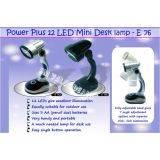 Powered Mini 12 Led Desk Lamp Light Brand New Flexible Portable Only Black Color