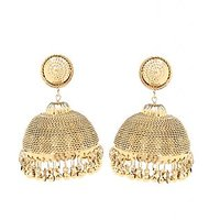 Gold Coloured Traditional Hanging Jhumka By Goldnera