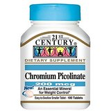 21St Century Chromium Picolinate 200 Mcg Tablets 100-Count (Pack Of 4)