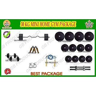 30 KG GB PRODUCT MINI HOME GYM WITH 3 RODS + GRIPPER + ROPE + LOCK