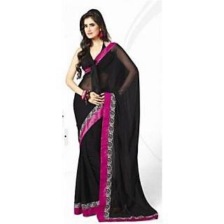 Bhavi Chiffon Designer Saree (Black)