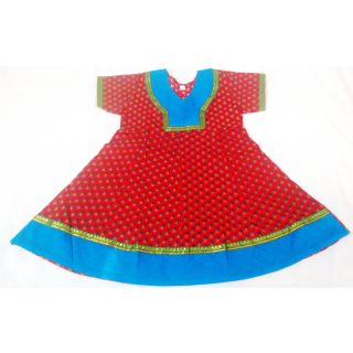 Bijou Kids Anarkali Kurti Red & Blue (Big)