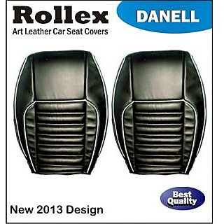 Alto 800 (Latest) - Art Leather Car Seat Covers - Rollex - Danell - Beige With Black