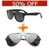Combo Of Wayfarer & Aviator Sunglasses FREE 2 CASE