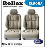 Honda City Zx - Art Leather Car Seat Covers - Rollex - Eldora - Beige With Black