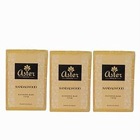 Aster Luxury Sandalwood Handmade Soap (Pack of 3) 125g