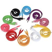 Flat Design Thick Long 8 Pin USB Sync And Charging Data Cable For Apple Iphone 5 Ipad Mini Ipad 4 Ipod Touch 5 Ipod Nano 7