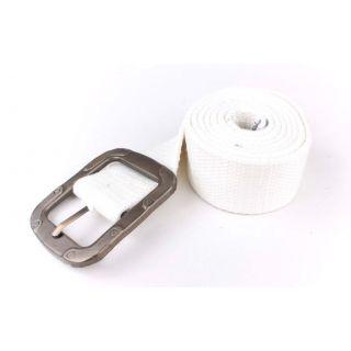 SRS-Unisex Free size White Canvas Belt
