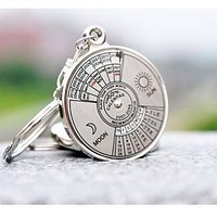 50 Years Calender Date Month Year Day Time Compass Keychain