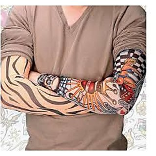 Wearable Arm Tattoo Sleeves For Style / Biking Sun Protection -  Get 1 pair