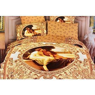 Valtellina 100% Cotton King Size 4D  Bedsheet (TK-004)