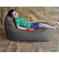 Bean Bags - Style Homez Genuine Kids Video Rocker Bean Bag Grey Color (Red Piping) - Cover Only