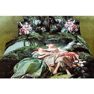 Valtellina 100% Cotton King Size 4D  Bedsheet (TK-013)