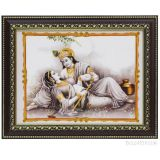 Sri Krishna and Sathyabhama Photo Frame