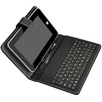 Premium Leather High Quality 7 INCH Mini USB KEYBOARD CASE COVER FOR TAB Tablet Bsnl,Micromax P300 Funbook ,HCL ME X1 U1,Aakash Ubislate & Other 7 INCH'S TABS