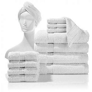 Valtellina 100% cotton set of 4 bath towel & 8 hand towel (BTL-004_HTL_008)