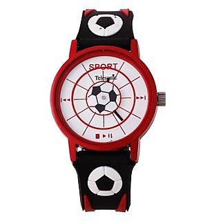 Telesonic Analog Watch For Men-TSPK-04-(Red & Black)