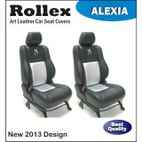 A Star Art Leather Car Seat Covers Black